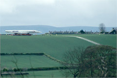 The last stage of Concorde's journey from London to the Museum of Flight, across country from the A1.