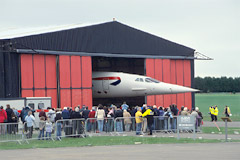 Concorde is moved into its new home at the Museum of Flight.