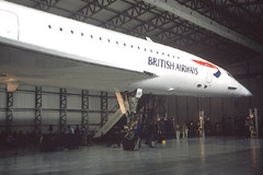 Concorde G-BOAA in its new home at the Museum of Flight, East Fortune.