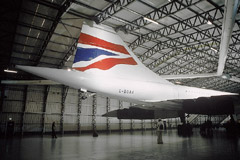 Another view of Concorde's tail and the modifications to the roof, this time from the starboard side.