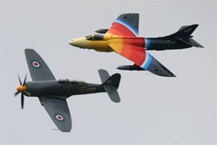 Sea Fury T.20 G-RNHF & Hunter Mk.58a G-PSST