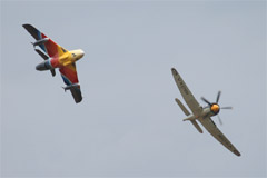 Hunter Mk.58a G-PSST & Sea Fury T.20 G-RNHF